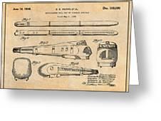 1935 Union Pacific M-10000 Railroad Antique Paper Patent Print Greeting Card
