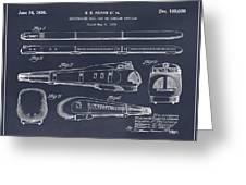 1935 Union Pacific M-10000 Railroad Blackboard Patent Print Greeting Card