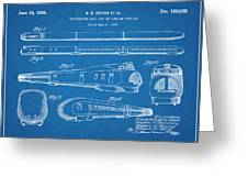 1935 Union Pacific M-10000 Railroad Blueprint Patent Print Greeting Card