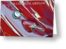1936 Chrysler Airflow B Greeting Card