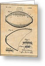 1936 Reach Football Antique Paper Patent Print Greeting Card