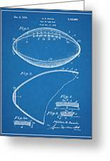 1936 Reach Football Blueprint Patent Print Greeting Card