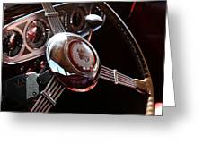 1937 Vintage Model 1508 Steering Wheel Greeting Card