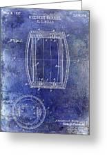 1937 Whiskey Barrel Patent Greeting Card