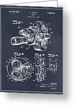 1938 Bell And Howell Movie Camera Patent Print Blackboard Greeting Card