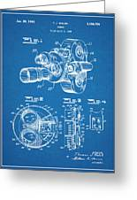 1938 Bell And Howell Movie Camera Patent Print Blueprint Greeting Card