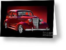 1938 Chevrolet Master Deluxe Sedan Greeting Card