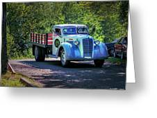1938 Diamond T Stakebed Truck Greeting Card