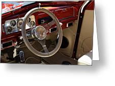1938 Pontiac Silver Streak Interior Greeting Card