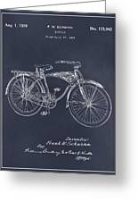 1939 Schwinn Bicycle Blackboard Patent Print Greeting Card