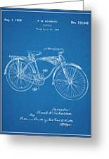 1939 Schwinn Bicycle Blueprint Patent Print Greeting Card