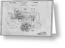 1942 John Deere Tractor Gray Patent Print Greeting Card