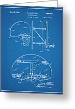 1944 Basketball Goal Blueprint Patent Print Greeting Card