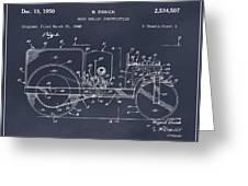 1946 Road Roller Blackboar Patent Print Greeting Card