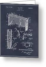 1947 Hockey Goal Patent Print Blackboard Greeting Card