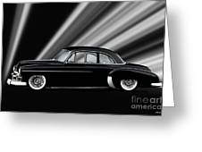 1950 Chevrolet Custom Deluxe Coupe Greeting Card