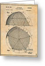 1954 Geodesic Dome Antique Paper Patent Print Greeting Card