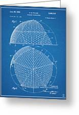 1954 Geodesic Dome Blueprint Patent Print Greeting Card