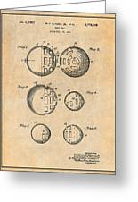 1954 Wiffle Ball Patent Print Antique Paper Greeting Card