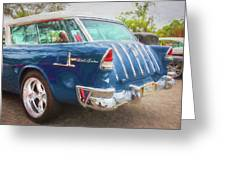 1955 Chevrolet Bel Air Nomad Station Wagon 228 Greeting Card