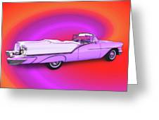 1957 Oldsmobile 98 Starfire Greeting Card