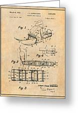 1960 Bombardier Snowmobile Antique Paper Patent Print Greeting Card