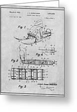 1960 Bombardier Snowmobile Gray Patent Print Greeting Card