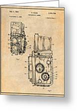 1960 Rolleiflex Photographic Camera Antique Paper Patent Print Greeting Card