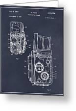 1960 Rolleiflex Photographic Camera Blackboard Patent Print Greeting Card