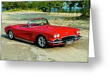 1962 Corvette Roadster Custom Greeting Card