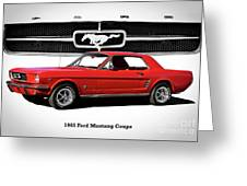 1965 Mustang 289 Coupe Greeting Card
