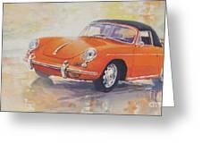 1965 Porsche 356 C Cabriolet Greeting Card
