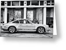 1972 Porsche 911 Monochrome Greeting Card