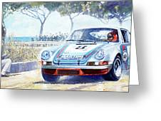 1973 Targa Floria Porsche 911 Carrera Rsr Martini Racing Lennep Muller Winner  Greeting Card
