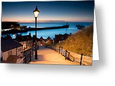 199 Steps Of  Whitby In The  North Greeting Card