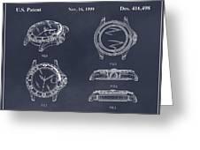 1999 Rolex Diving Watch Patent Print Blackboard Greeting Card