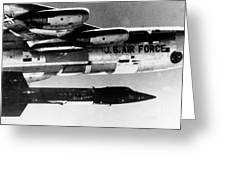 1x15 Rocket Plane Launched From The B52 Carrying It, 1962 Greeting Card