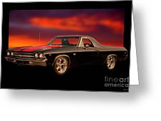 1969 Chevrolet El Camino Ss396 Greeting Card