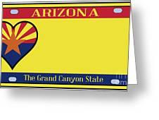 Arizona State License Plate Greeting Card