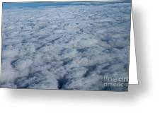 Beautiful Cloudscape High Up In The Sky. Greeting Card