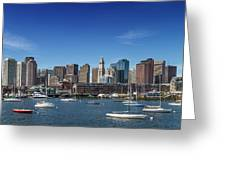 Boston Skyline North End And Financial District Greeting Card