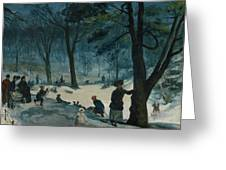 Central Park, Winter Greeting Card