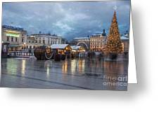 Christmas In Krakow Greeting Card