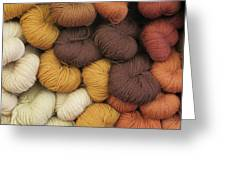 Colored Yarn Greeting Card