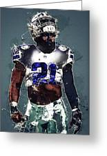 Dallas Cowboys.ezekiel Elliott. Greeting Card
