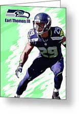 Earl Thomas,seattle Seahawks. Greeting Card