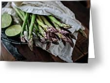 Fresh Green Asparagus Greeting Card