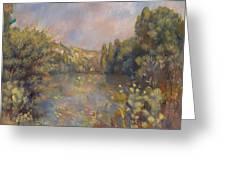 Lakeside Landscape  Greeting Card
