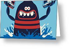 Monster Vector Design Greeting Card