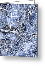 Munich Germany City Map Greeting Card